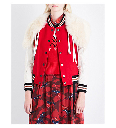 COACH Varsity wool-blend jacket (Red