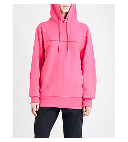 032C Pyrate Society cotton-jersey hoody (Magenta