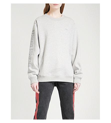 032C Printed cotton-jersey sweatshirt (Heather