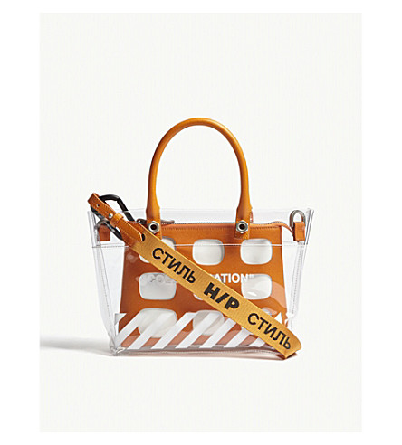 HERON PRESTON Off White Collaboration mini tote bag (Transparent