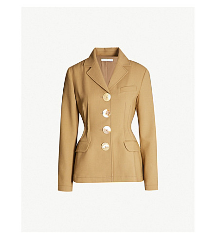 REJINA PYO Etta notch-lapel wool-blend jacket (Light chestnut