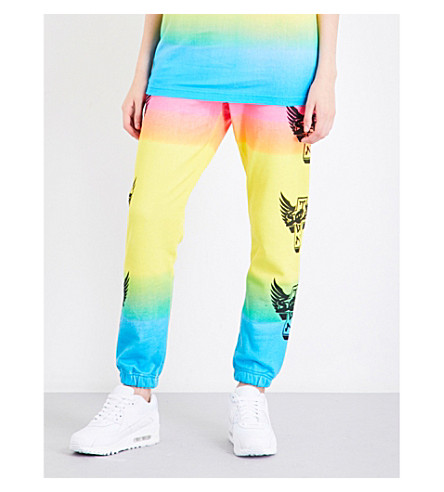 DOGTOWN X SEX SKATEBOARDS Neon ombré cotton-jersey jogging bottoms (Multi