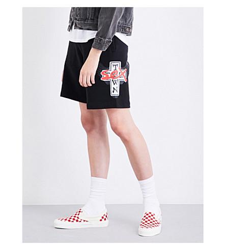 DOGTOWN X SEX SKATEBOARDS Logo-print cotton-jersey shorts (Black