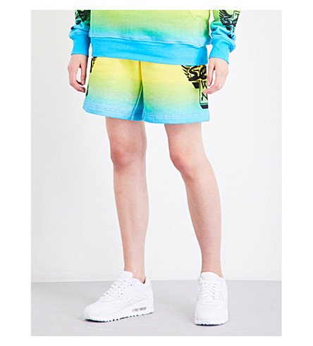 DOGTOWN X SEX SKATEBOARDS Neon ombré cotton-jersey shorts (Multi