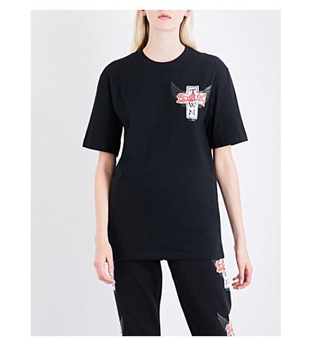 DOGTOWN X SEX SKATEBOARDS Logo-print cotton-jersey T-shirt (Black