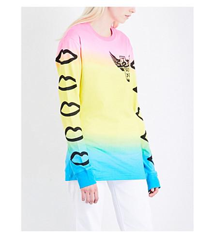 DOGTOWN X SEX SKATEBOARDS Neon ombré cotton-jersey T-shirt (Multi