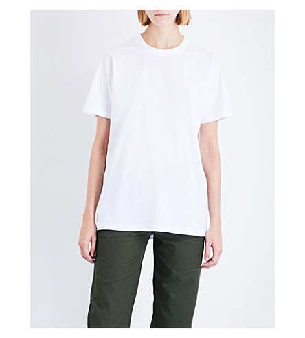 MAINS Relaxed-fit cotton-jersey T-shirt (White