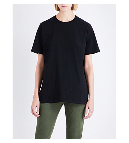 MAINS Relaxed-fit cotton-jersey T-shirt (Black