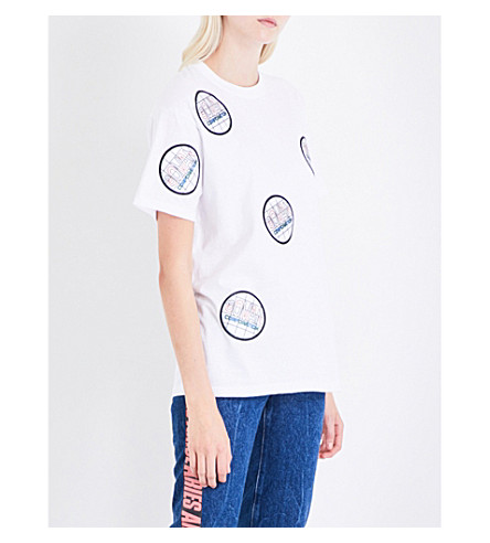 MATTY BOVAN FOR FASHION EAST Patch-detail jersey T-shirt (White