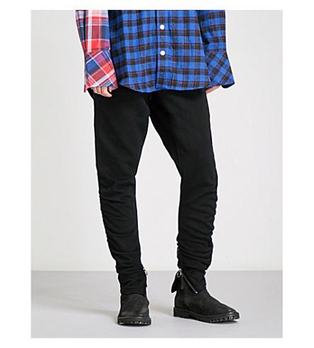 D-ANTIDOTE Logo-waist skinny high-rise wool jogging bottoms (Black