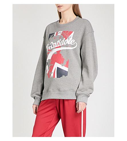 D-ANTIDOTE Logo-print cotton-jersey sweatshirt (Grey