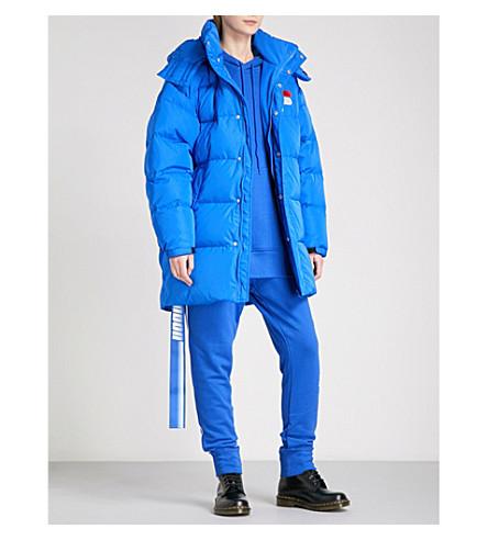 D-ANTIDOTE D-ANTIDOTE x Fila shell-down puffer jacket (Blue