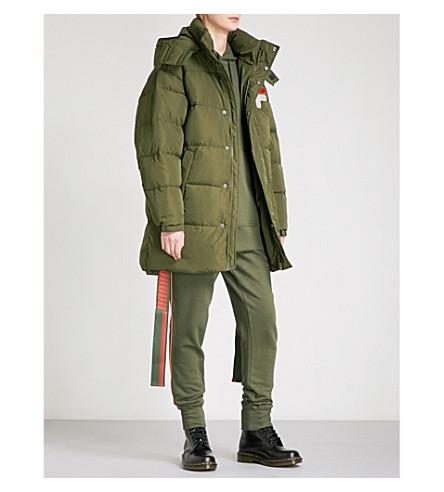 D-ANTIDOTE D-ANTIDOTE x Fila shell-down puffer jacket (Khaki