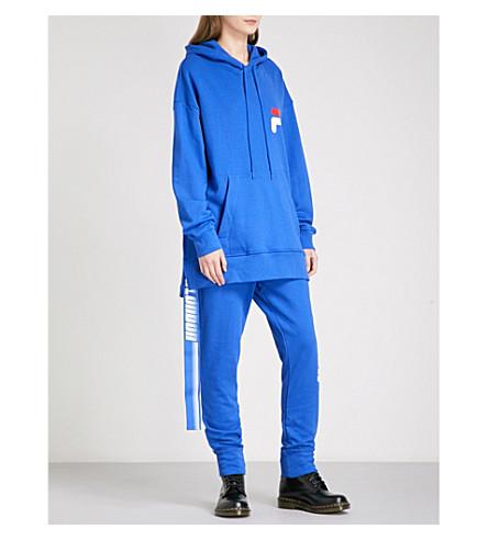 D-ANTIDOTE D-ANTIDOTE x Fila cotton-jersey hoody (Blue