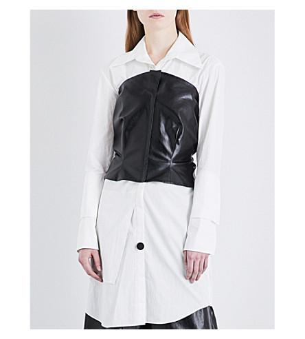 NOHKE Tie-detail faux-leather corset (Black