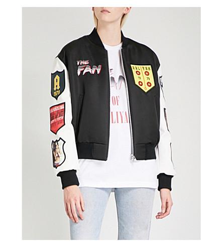 THEFAN Aaliyah satin bomber jacket (Black