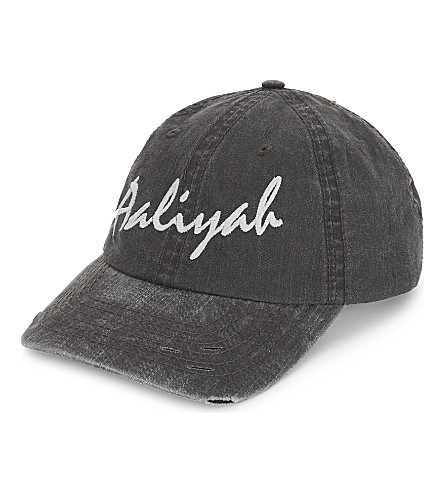 THEFAN Aaliyah embroidered baseball cap (Charcoal/black