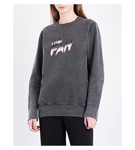 THEFAN Vision Aaliyah-print cotton-jersey sweatshirt (Charcoal