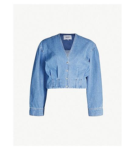 NANUSHKA Eliana structured-waist denim shirt (Blue