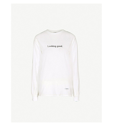 BLOUSE Looking Good cotton-jersey top (White