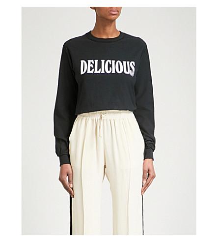 BLOUSE Delicious cotton-jersey top (Black