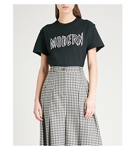 BLOUSE Metamodern cotton-jersey T-shirt (Black