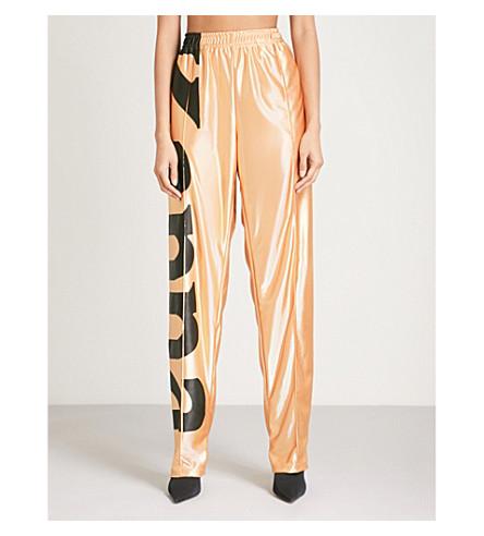 FAITH CONNEXION Faith Connexion x Kappa metallic trousers (Gold