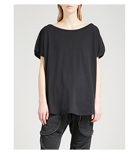 FAITH CONNEXION Dolman-sleeve cotton-jersey T-shirt (Black