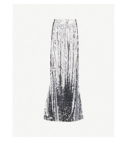 FAITH CONNEXION Faith Connexion x Kappa sequinned maxi skirt (Silver