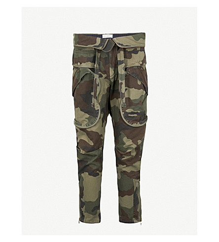 FAITH CONNEXION Camouflage-print tapered cotton-canvas cargo trousers (Camouflage