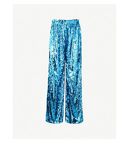 FAITH CONNEXION Faith Connexion x Kappa sequinned trousers (Turquoise