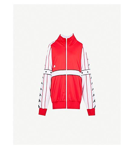FAITH CONNEXION Faith Connexion x Kappa logo-print jersey jacket (Red