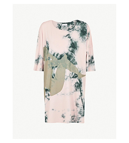 FAITH CONNEXION Faith Connexion x Kappa cotton-jersey T-shirt dress (Pink
