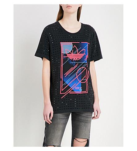 RAGYARD adidas embellished cotton-jersey T-shirt (Multi