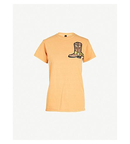 RAGYARD Boot-patch cotton T-shirt (Yellow