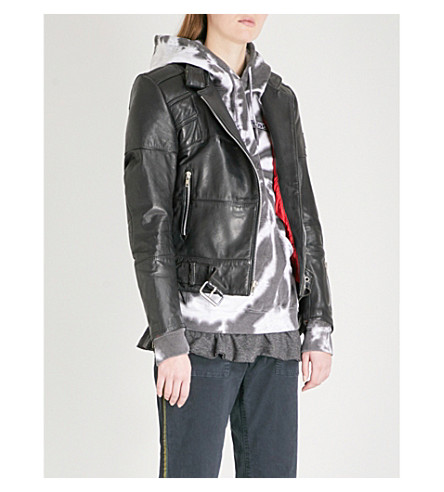 RAGYARD Vintage leather jacket (Black