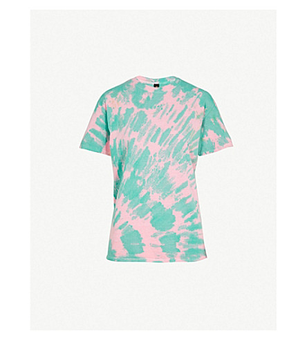 RAGYARD Tie-dye print cotton-jersey T-shirt (Green