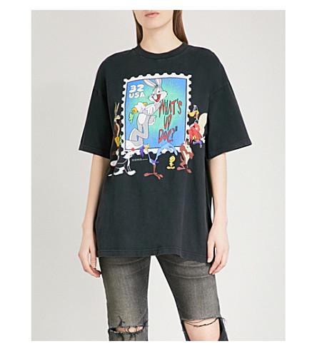 RAGYARD Looney Tunes printed cotton T-shirt (Black