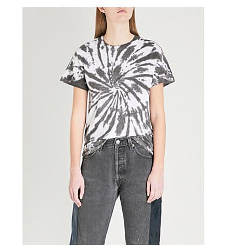 RAGYARD Tie-dye cotton T-shirt (Black/white