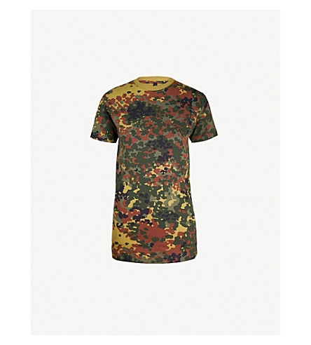 RAGYARD Camouflage-patterned cotton T-shirt (Khaki
