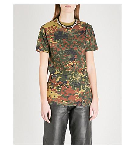 RAGYARD Camouflage-patterned cotton T-shirt (Khaki