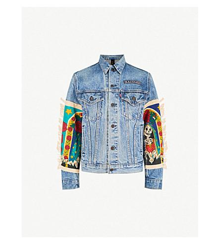 RAGYARD Appliquéd denim jacket (Blue