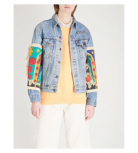 RAGYARD Appliquéd denim jacket (Blue