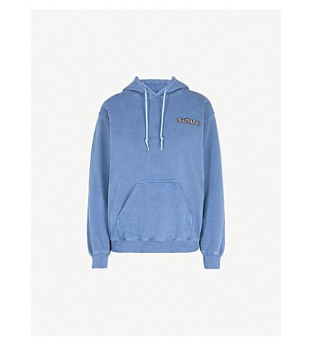 RAGYARD Logo-patch cotton-jersey hoody (Blue