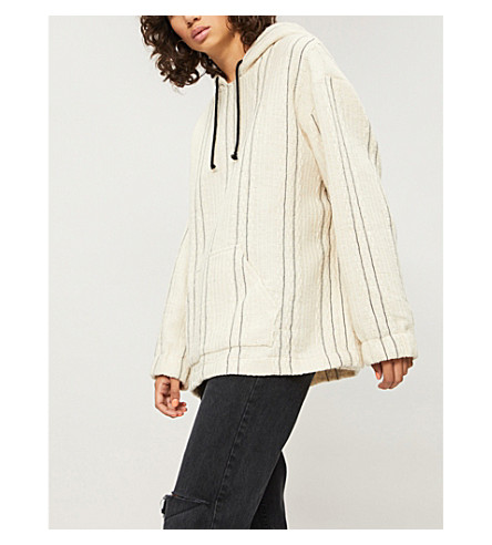 RAGYARD条纹羊毛混纺帽衫 (奶油