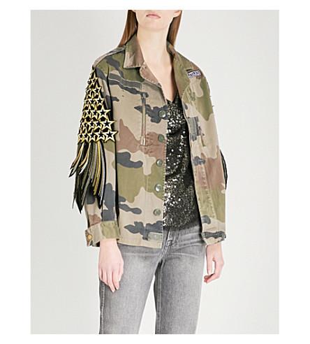 RAGYARD Star-appliqué cotton jacket (Khaki