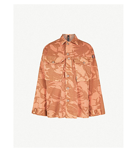 RAGYARD Camo-print cotton-blend jacket (Orange