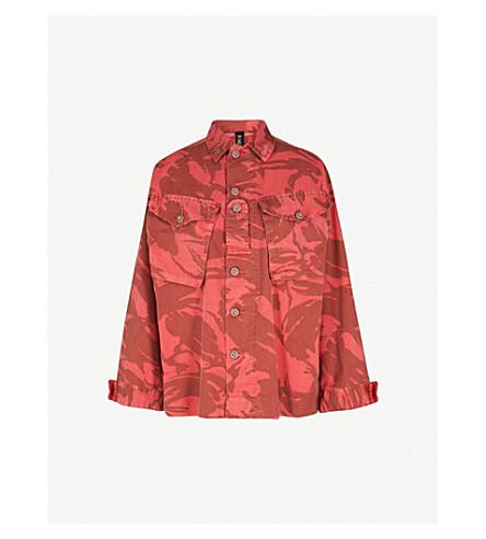 RAGYARD Camo-print cotton-blend jacket (Red