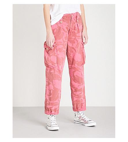 RAGYARD Camo-print cotton trousers (Pink