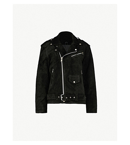 RAGYARD Oversized suede jacket (Black